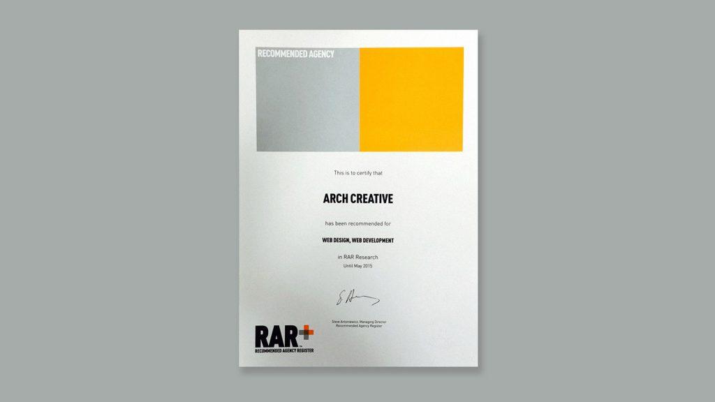 RAR Web design and development