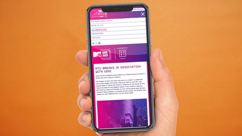 MTV music week iphone