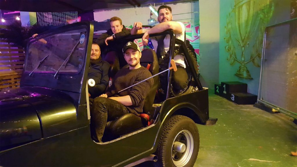 The Arch Lads on a Jeep
