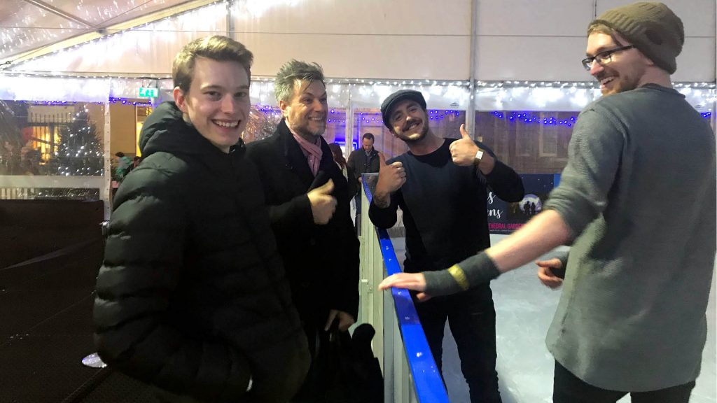 Some of the Arch team at Ice Skating